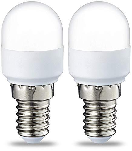 AmazonBasics E14 LED Lampe T25, Kühlschranklampe, 1.7 W (ersetzt 15 W), warmweiß, 2er-Pack